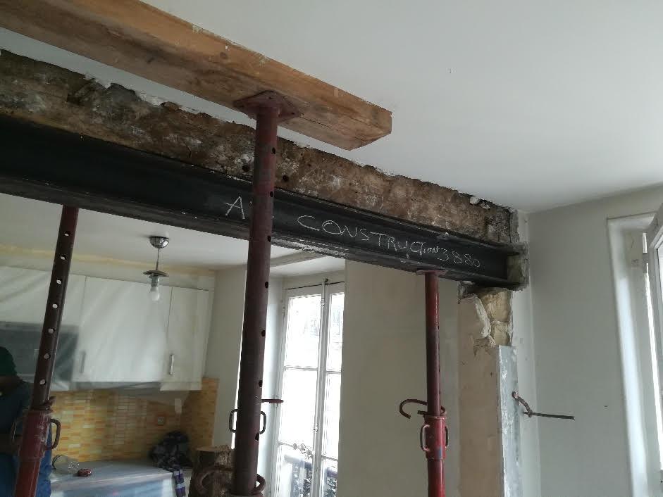 Ouverture mur porteur paris 17 as construction - Ouverture de porte paris 17 ...